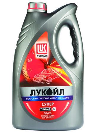 Канистра с полусинтетическим маслом Лукойл «Супер» 10w-40